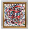 Image 2 : Jackson Pollock American Abstract Oil on Canvas