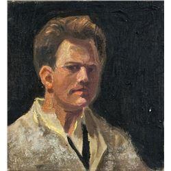 Craigie Aitchison Scottish Modernist Oil on Canvas