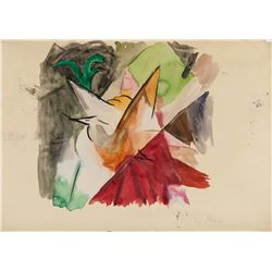 Franz Marc German Expressionist Watercolor Paper