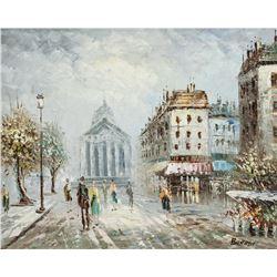 Caroline Burnett American Oil on Canvas Cityscape