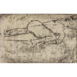 Gustav Klimt Austrian Art Nouveau Linocut Paper