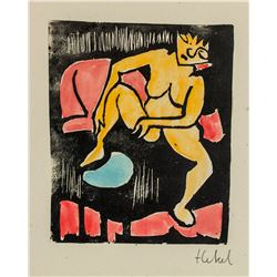 Erich Heckel German Expressionist Litho on Paper
