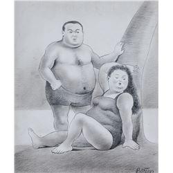 Fernando Botero Colombian Modernist Graphite Paper