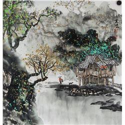 Huang Yunhong b.1974 Chinese Watercolor on Paper