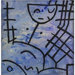 Paul Klee German Expressionist Oil on Canvas
