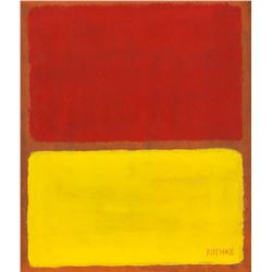 American Abstract Oil on Canvas Signed ROTHKO