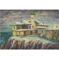 Jean Puy French Fauvist Oil on Board Landscape