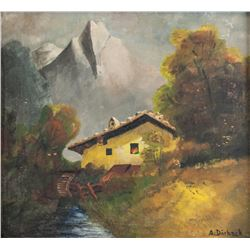 Oil on Board Landscape Signed A. Durbeck