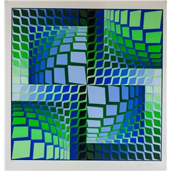 "Victor Vasarely ""Thez"" Ltd Signed Serigraph 87/250"