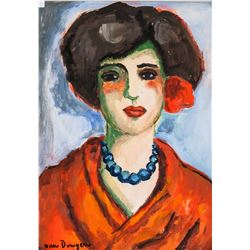 Kees van Dongen French Fauvist Gouache on Paper