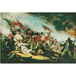 "John Trumbull NYGS Litho ""Battle of Bunker's Hill"""