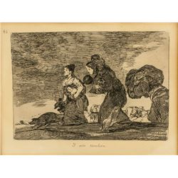 Francisco Goya Spanish Romanticist Etching Paper