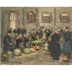 Jack B. Yeats Irish Impressionist Oil on Board