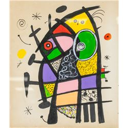 Joan Miro Spanish Surrealist Gouache on Paper