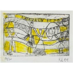 Paul Klee Swiss Expressionist Signed Linocut 29/30