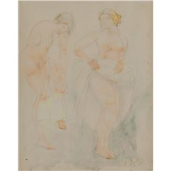 Auguste Rodin French Impressionist WC and Pencil