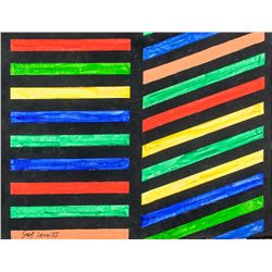 Sol Lewitt American Minimialist Oil on Canvas