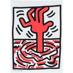 Keith Haring American Pop Mixed Media with COA