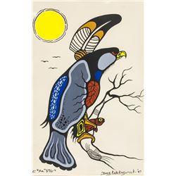 Doug Kakekagumick Canadian 1865-2009 Acrylic Paper
