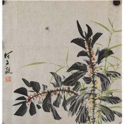 He Xiangning 1878-1972 Chinese Watercolor Paper