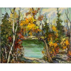 Pat McNaughton Canadian Oil on Canvas Board