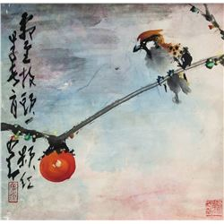 Zhao Shao'ang 1905-1998 Chinese WC Birds on Paper