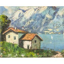 Attilio Pratella Italian Impressionist Oil Board