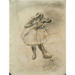 Edgar Degas French Impressionist Ink and Charcoal
