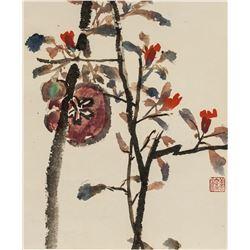 Yang Shanshen 1913-2004 Chinese Watercolor Roll