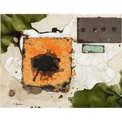 Alberto Burri Italian Expressionist Mixed Media