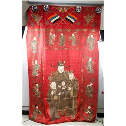 Republic of China Silk Embroidery Bed Sheet