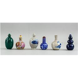 Chinese Assorted Snuff Bottle (6pc)