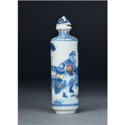 Chinese Blue & White Porcelain Snuff Bottle Mark