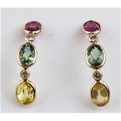 3.60ct Assorted Gem Earrings CRV $3500