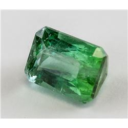 2.19 ct Emerald Cut Green Tourmaline Gemstone