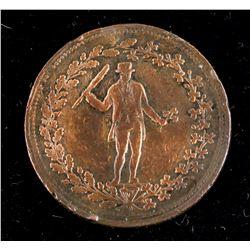 1820-1830 Canadian 1/2 Penny Copper Token