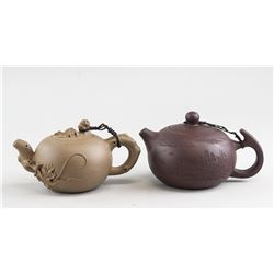 2 Assorted Chinese Zisha Pottery Teapots