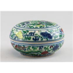 Chinese Famille Verte Porcelain Case Chenghua MK