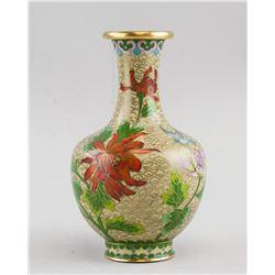 Chinese Cloisonne Porcelain Vase