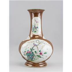 Chinese Famille Rose Porcelain Vase Kangxi Mark