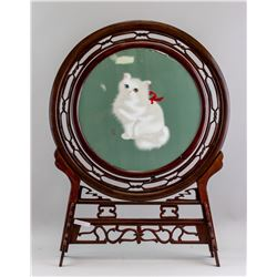 Chinese Double Sided Cat Panel w/Stand