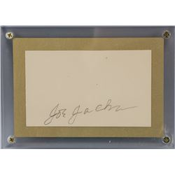"""Shoeless"" Joe Jackson Autographed Cut Card COA"