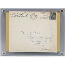 Babe Ruth Autographed Envelope Letter COA