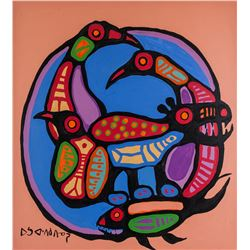 Norval Morrisseau 1932-2007 Canadian Acrylic 1977