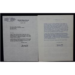 "Two Hubert H. Humphrey Letters Signed ""Hubert H."" as U.S. Senator; June and July 1955"