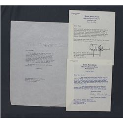 """Lyndon B. Johnson and Lady Bird Johnson Signed Letters, 6 7/8"""" x 6""""; June 25 and July 15, 1955"""