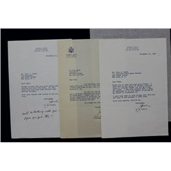 Harold L. Ickes Letter Signed as U.S. Secretary of the Interior. 6 1/4  x 8 1/2 ; May 16, 1946