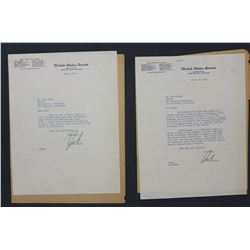 Two Richard Nixon Letters Signed  Dick  as U.S. Senator; each 10 1/2  x 8 . March 19 and May 2, 1952