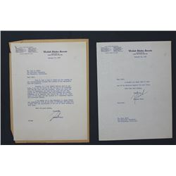 "Two Richard Nixon Letters Signed ""Dick"" as U.S. Senator; each 10 1/2"" x 8"". Jan. 22 and 24, 1952"