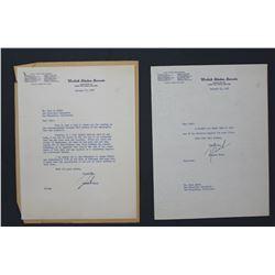 Two Richard Nixon Letters Signed  Dick  as U.S. Senator; each 10 1/2  x 8 . Jan. 22 and 24, 1952